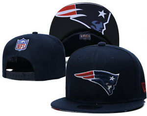 Blue-NFL-New-England-Patriots-Logo-Snapback-Cap-Hat-Adjustable