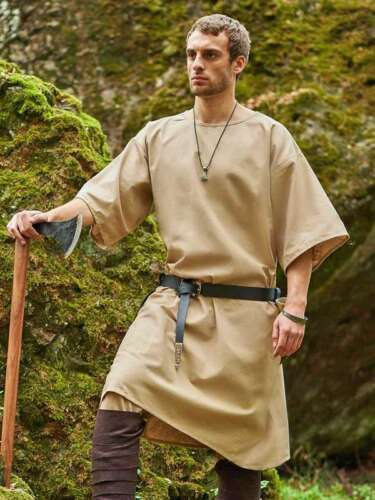 Medieval Reenactment Tunic Mast Design Historical Costume Nice Look Camal Color