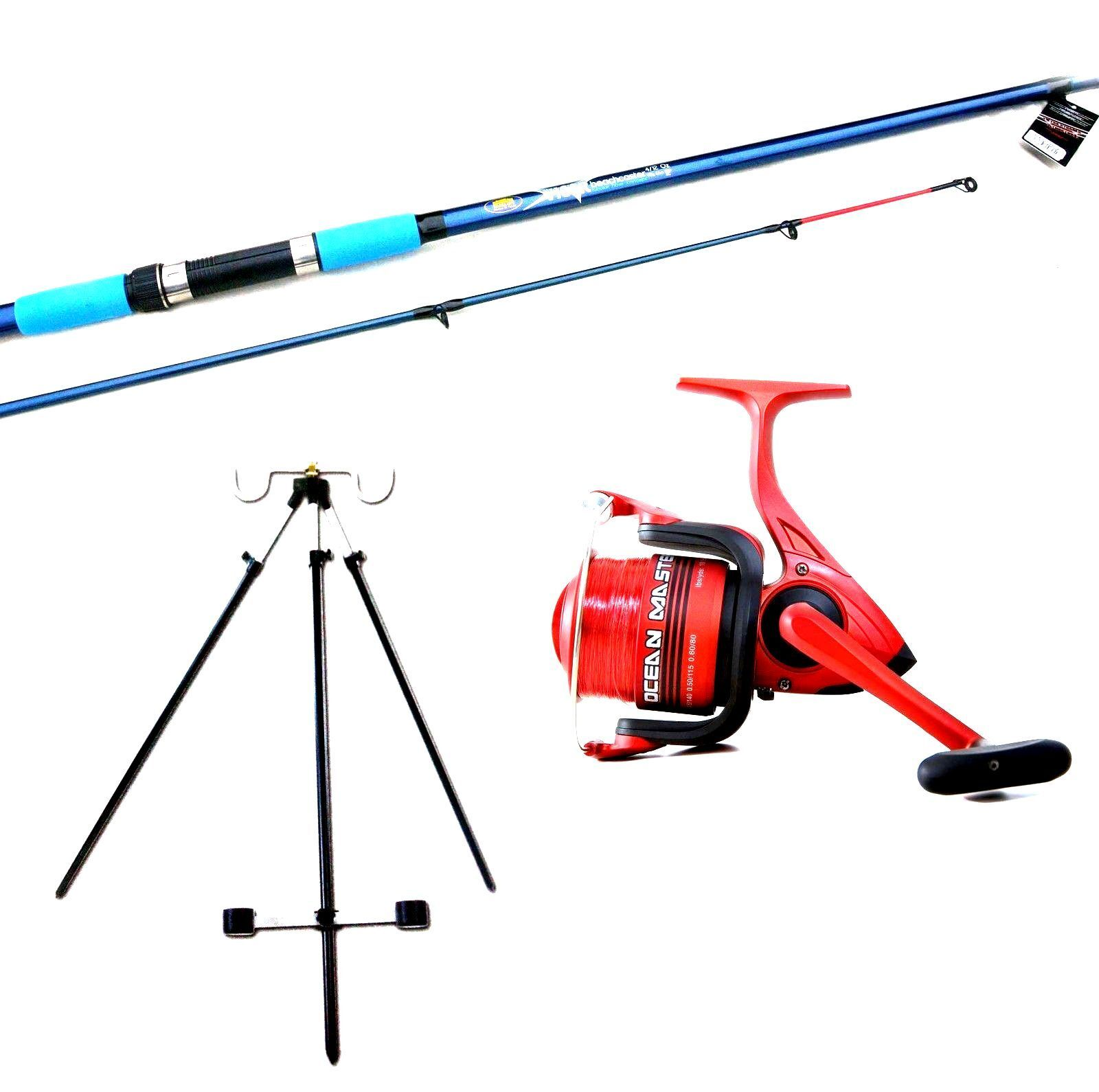 Lineaeffe  Sea Fishing Beach Beachcasting Rod Ocean 80 Reel Tripod  Kit Set