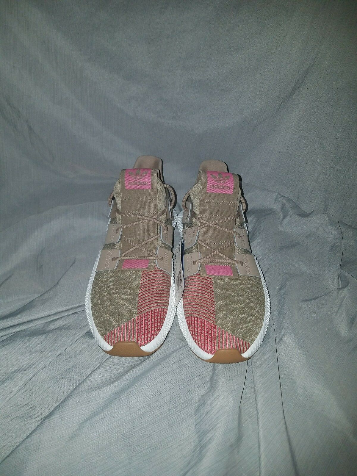 Mens Adidas Prophere Trace Khaki Whte Chalk Pink size 10