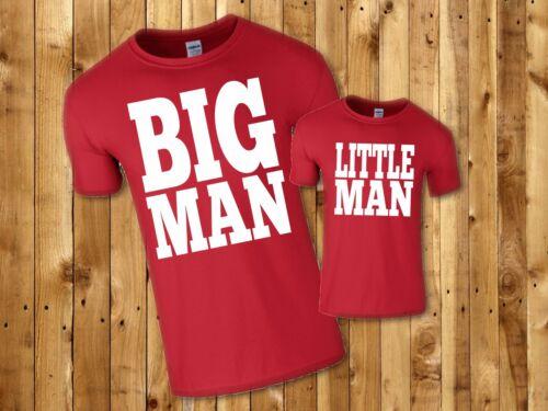 Big Hombre poco Hombre Divertido Camisetas Padre Hijo fresco sistema que empareja 5 Colores