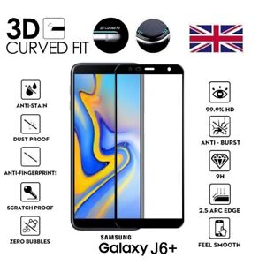 For-Samsung-Galaxy-J6-PLUS-2018-3D-Curved-Tempered-Glass-Screen-Protector-Black