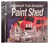 Microsoft Train Simulator Paint Shed (pc, 2002) Brand Sealed -free U.s. Ship