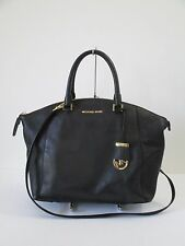 Michael Kors Riley Black Large Satchel Shoulder Handbag Handbag