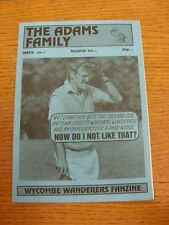 1993/1994 Wycombe Wanderers: fanzine-La Famiglia Adams, numero 13 MARZO 1994. un
