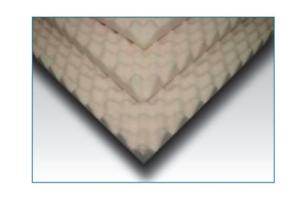 "4 inch Foam Twin Bed Pad Mattress Overlay Topper Egg Crate 4 X 34 X 72/"""