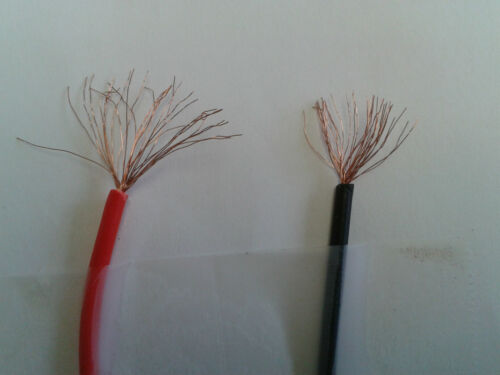 """20 awg Jumper wires with alligator clips at 21/"""" in red//black 4 pc"""