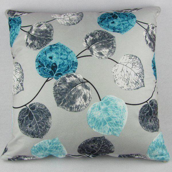 "Blue Grey Leaves Pillow Case Decor Cushion Cover Cotton Square 20"" / 50cm PI27"