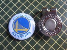 GOLF / Golden State Warriors Logo Golf Ball Marker/with Magnet Hat Clip New!!
