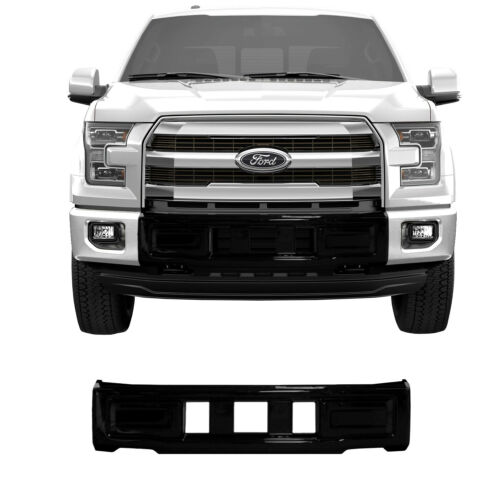 For 2015-2017 F150 NEW BumperShellz Gloss Black Front Bumper Cover Center B