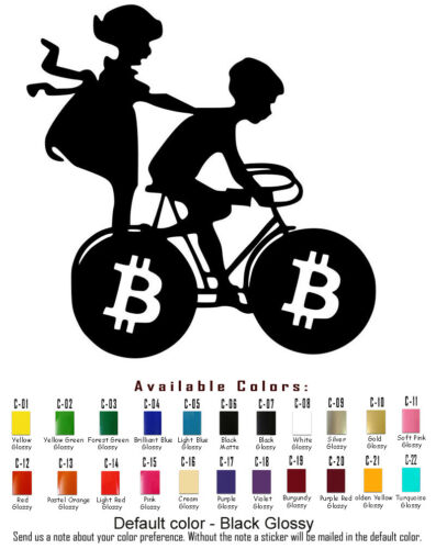 Bitcoin Vinyl Decal Sticker Car Window Laptop Ipad Cryptocurrency BTC Coin Money