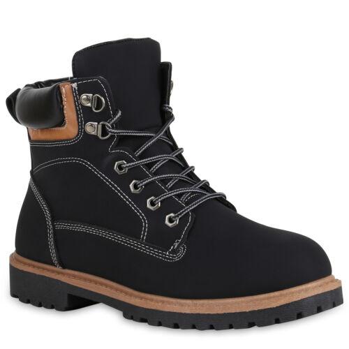 894370 Herren Worker Boots Warm Gefütterte Outdoor Schuhe Profil Sohle Trendy