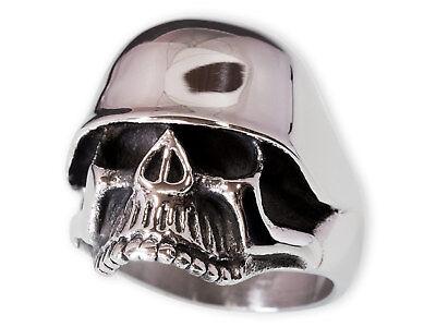Besorgt Totenkopf Ring Edelstahl Herren Biker Stahlhelm Wehrmacht Skull Militaria Rocker Rabatte Verkauf