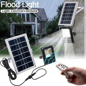 10W-White-Light-IP65-LED-Solar-Flood-Light-Garden-Street-Lamp-w-Remote-Control