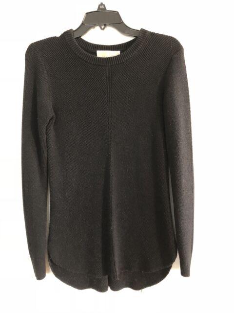 MICHAEL KORS Black Ribbed Sweater Size XS