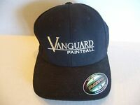 Vanguard Paintball Lids Cap S/m Flexfit Black Ball Hat Acrylic Wool Spandex