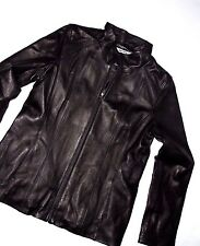 DKNY by Donna Karan 750932 designer LEATHER Jacket  size LARGE