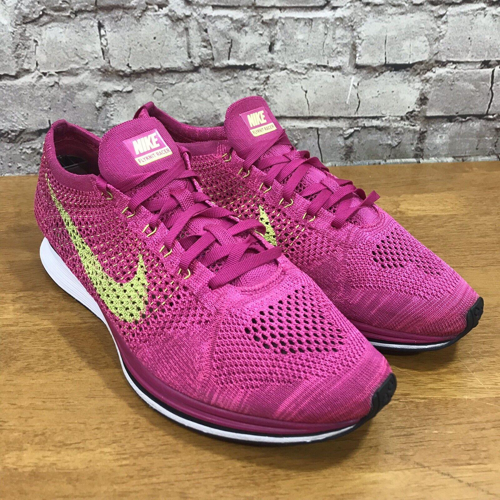 ff0ec439174f Nike Flyknit Racer Running shoes Fireberry Fireberry Fireberry Volt Pink  Size 13 526628-607 046b51