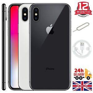 Apple Iphone X (10) 64 Go 256 Go Space gris Argent Débloqué Sans SIM Smartphones