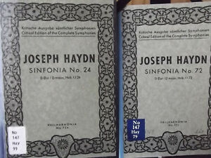 2-x-Josef-Haydn-Sinfonia-Symphonie-No-24-Nr-72-Philharmonia-Partitur