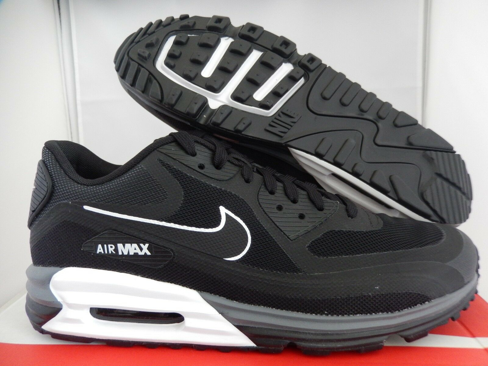 NIKE AIR MAX LUNAR90 LUNAR 90 BLACK-WHITE Price reduction Comfortable and good-looking