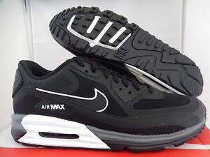 NIKE AIR MAX LUNAR90 LUNAR 90 BLACK WHITE SZ 12 [705302 001]