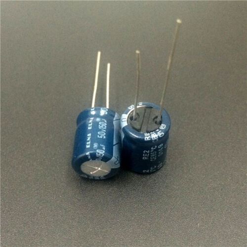 50pcs 150uF 50V Japan ELNA RE2 10x12.5mm 50V150uF Audio Capacitor