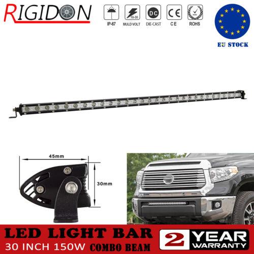 Slim Single Row Combo Beam 30inch 150W LED Light Bar For Car TV SUV RZR Trailer
