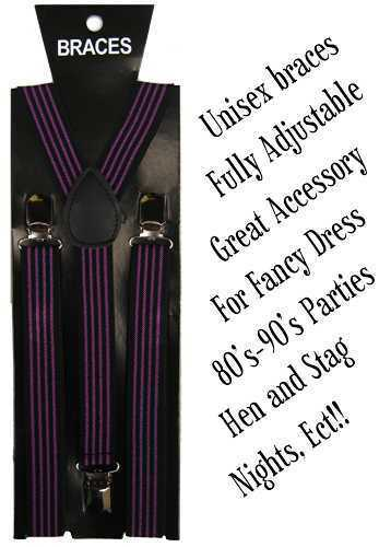 Unisexe Ajustable Slim Pantalon Bretelles Bretelles Y Clip Sur Robe Fantaisie Punk Emo
