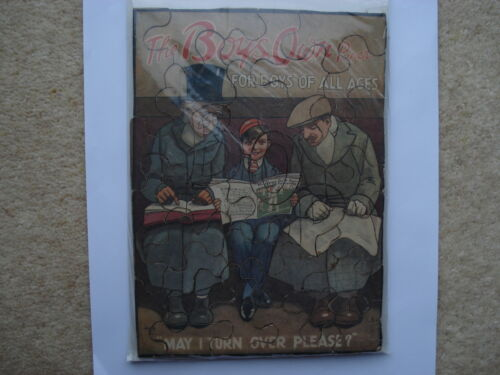C1920S VINTAGE THE BOYS OWN PAPER FOR BOYS OF ALL AGES HASSALL ARTIST ADV JIGSAW
