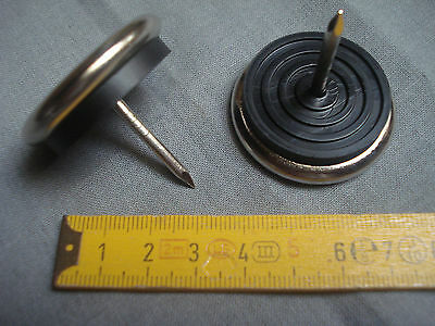 lot de 4 Ø 40 mm embase nickelée meuble Patins glisseurs amortisseurs