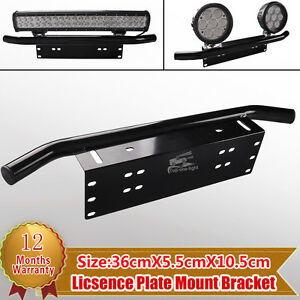 23 bull bar front bumper license plate mount bracket led work image is loading 23 039 039 bull bar front bumper license mozeypictures Images