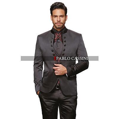 PABLO CASSINI Designer Herren Anzug Schwarz Bordeaux Hochzeitsanzug PC_15