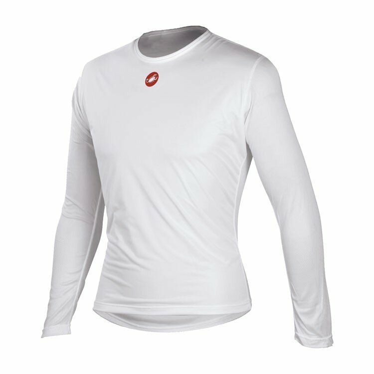 Castelli Winter Wind Men's Cycling Long Sleeve Base Layer White Size L