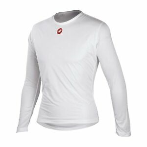 b0cf1d17a Castelli Winter Wind Men s Cycling Long Sleeve Base Layer White Size ...