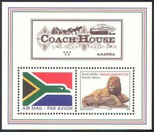 RSA 1997 Airmail Flag/Lion/Wild Cats/Coach House/Flag/Animals 2v m/s (s3867)