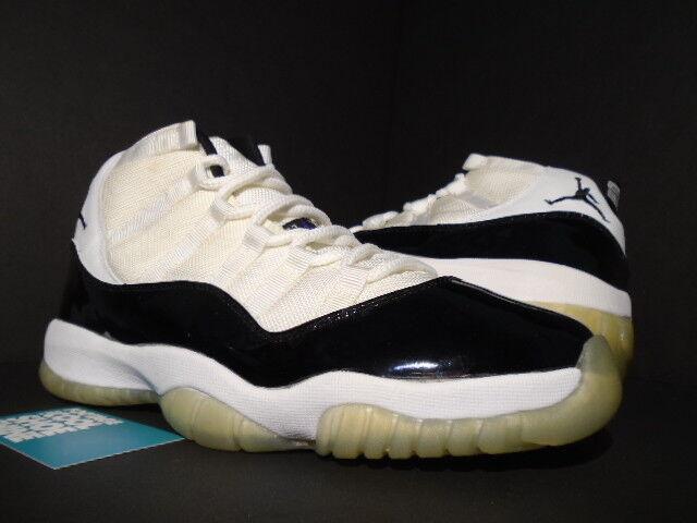 2000 Nike Air Jordan XI 11 Retro WHITE BLACK CONCORD SPACE JAM 136046-101 DS 9.5