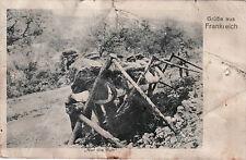 AK, Foto, WK1, Soldaten a.d. Donnerbalken, 1915 (D)5026-11