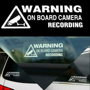 2X-Warning-On-Board-Recording-Car-Window-Truck-Auto-Vinyl-Sticker-Rectangle