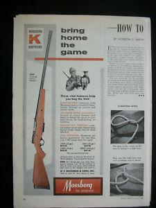 VTG-1960-Orig-Magazine-Ad-Mossberg-KMART-Shotguns-Bring-Home-The-Game