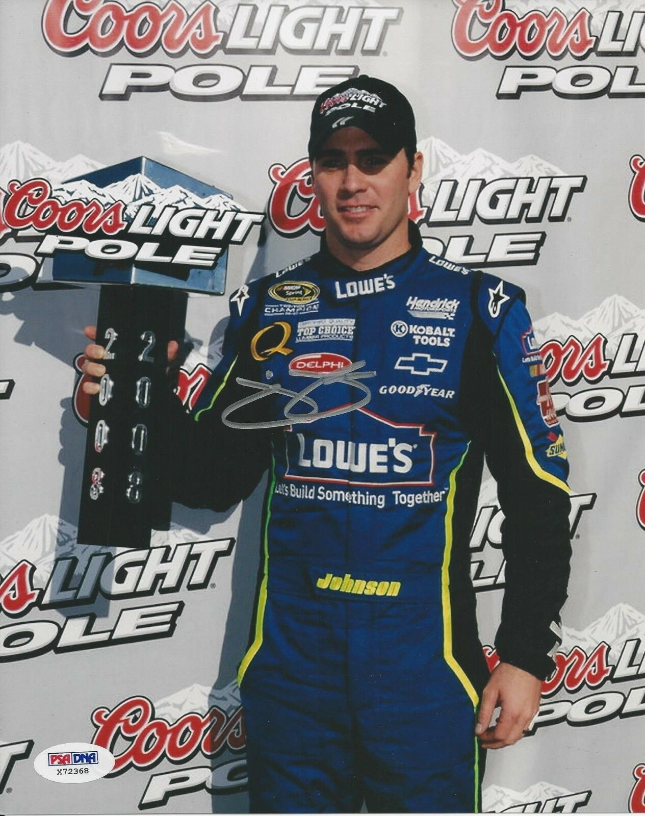 Jimmie Johnson signed 8x10 PSA/DNA # X72368