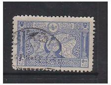 Turkey - 1917/18, 50pa Blue - Perf 11 1/2 (Map) stamp - G/U - SG 921a