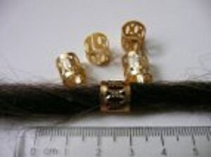 Image Is Loading Set Of 5 Patterned Gold Dreadlock Cuffs For