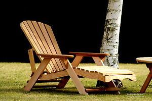 1 bear chair bc700c red cedar adirondack chaise lounge for Adirondack chaise lounge