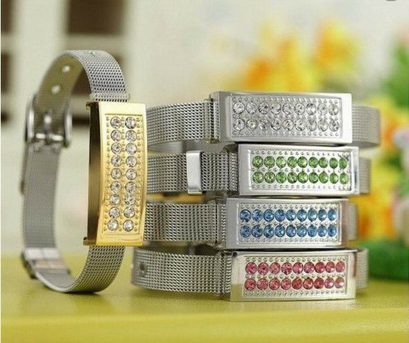 4GB 8GB 16GB 32GB New crystal bracelet model usb2.0 memory stick flash pen drive