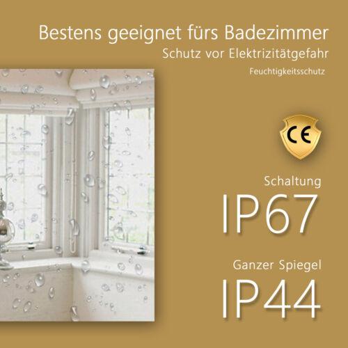 60x80 LED Badezimmerspiegel mit Touch Beschlagfrei Dimmbar Helligkeit Badspiegel
