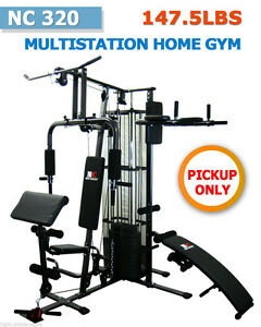 NEW-MULTI-STATION-HOME-GYM-FITNESS-EQUIPMENT-Bench-with-Weight-Brisbane