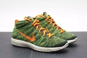 eda1af280aaa Nike Mens Lunar Flyknit Chukka Mens sz. 11.5 Sequoia Orange Green ...