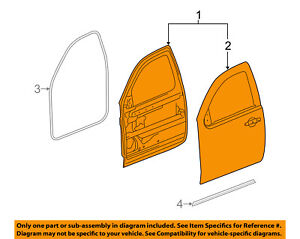 Excellent Gm Oem Front Door Shell Frame Panel Right 22892592 Ebay Wiring 101 Capemaxxcnl