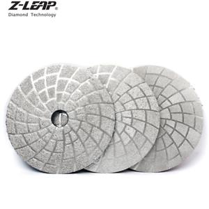 "5"" 3PCS Vacuum Brazed Diamond Polishing Pads Dry / Wet Grinding Wheel Grinding"